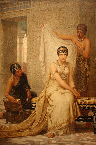 """Queen Esther"" by Edwin Long (1878). Public Domain image."