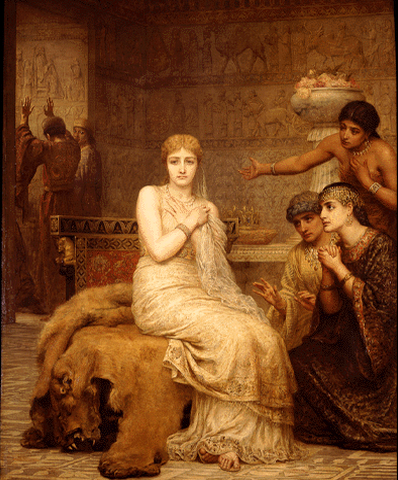 """Vashti Refuses the King's Summons"" by Edwin Long (1879). Public Domain image."