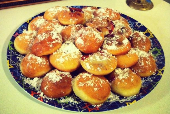 Sufganiyot homemade by your favorite Saturday Poetry Series editor